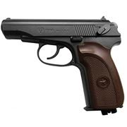 Пистолет PM Ultra (черный, коричневая рукоятка)