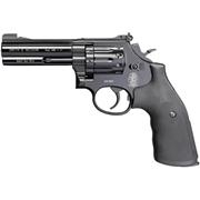 Пистолет Smith-Wesson 586-4R (черный, черные каучуковые накладки)