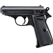 Пистолет Walther PPK/S (черный, подвижная рамка, затворная задержка)